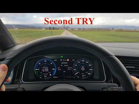 Vw Golf 7 GTE 0 - 100 kmh in Electric Mode Only MK7 Speed Test